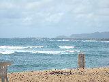 ホテルの目の前のビーチ