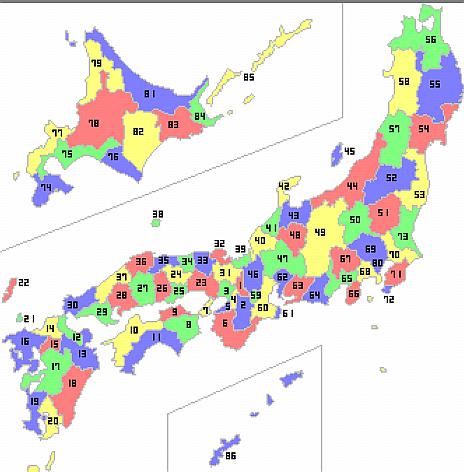 国名 地図 旧
